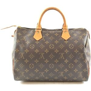 SpeedyBrown Monogram Canvas Satchel
